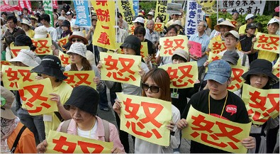 Japanese protest in Okinawa