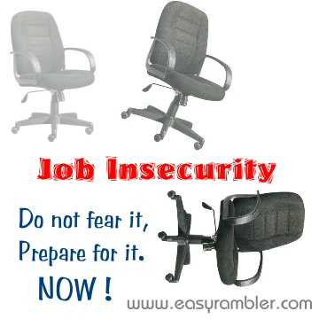 job insecurity Job insecurity has become more relevant during the last decades as more  flexibility from the workforce and organizations is demanded in the labour market.