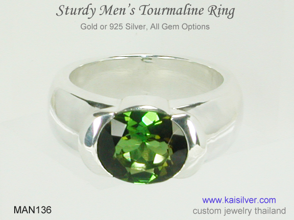 mens tourmaline ring