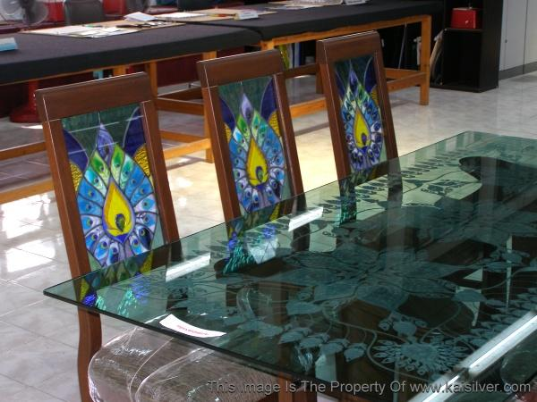 stained glass chairs, antique style furniture